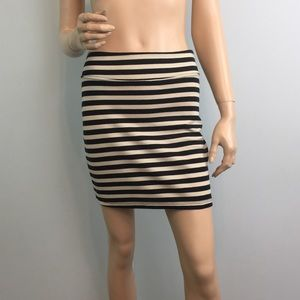 UO Silence + Noise Striped Mini Skirt Small